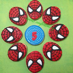 Man Cookies, Royal Icing Cookies, Spiderman, Party Ideas, Sugar, Instagram, Cookies, Spider Man, Ideas Party