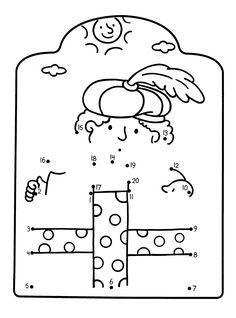 Werkblad rekenen: Sinterklaas is Jarig - Sinterklaas kleurboek 7 met kleurplaat, kleurplaten Connect The Dots, Diy For Kids, Little Ones, December, Snoopy, Teaching, School, Kid, Small Forearm Tattoos