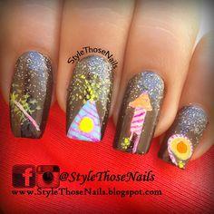 Manisha's FollowManimatters: Crackers nail art by Anita from StyleThoseNails : ...