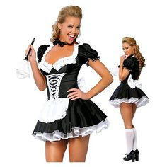 Costumes Sexy Halloween, Costume Sexy, Cosplay Costume, Bride Costume, Halloween Carnival, French Maid Dress, French Maid Costume, Horror Costume, Pin Up