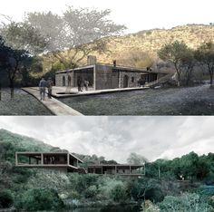 Segundo e Terceiro lugar no Concurso para o Centro de Interpretação Ambiental da Reserva Natural Vaquerias de Córdoba