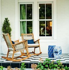 Juniper Home used these amazing tiles, from Lowe's, for their patio paradise!