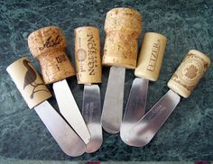 Impress your entire dinner party with these DIY cork-handled canape knives.