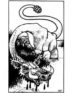 """Catoblepas: """"This nightmare creature is loathsome beyond description and has no redeeming features."""" (Dave Trampier from the AD&D Monster Manual by Gary Gygax, TSR, 1977)"""