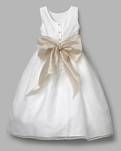 flower girl dress with perfect color bow!