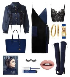 """""""Untitled #108"""" by sapphiretearsxo ❤ liked on Polyvore featuring Victoria Beckham, Stuart Weitzman, Mulberry, Jean-Paul Gaultier, Tory Burch, Clinique and Nevermind"""
