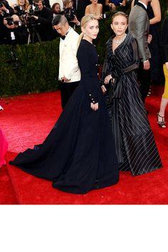 Mary-Kate and Ashley. Met Gala 2014 Red Carpet Dresses - Best Red Carpet Fashion Met Ball 2014 - Harper's BAZAAR