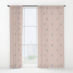 """Window Curtains """"Little flowers"""" by Elena Lourie.  Worldwide shipping available at Society6.com.  #curtains #window #windowcurtains # interior #homedecor #home #homeideas #bedroom #flowers #fundesign #cute #kitchen  #paledogwood #society6 #shop #forsale #elenalourie #pattern #delicate #printshop"""