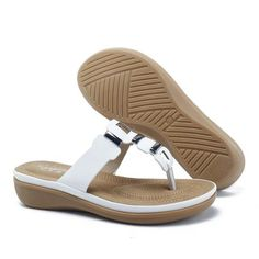 Metal Clip Toe Beach Slippers Types Of Shoes, Designer Shoes, Slippers, Footwear, Slip On, Pairs, Sandals, Metal, Womens Fashion