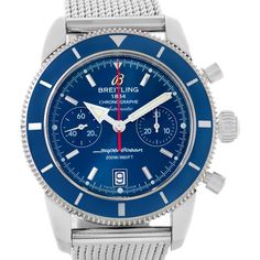 Breitling SuperOcean Heritage 44 Chrono Blue Dial Watch A23370 Unworn