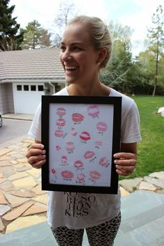 Bridal Shower gift - have every bridesmaid kiss the paper and leave the bride with a great take home gift!
