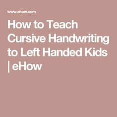 how to teach cursive writing How to teach handwriting this video goes through each letter of the cursive alphabet three times your pupils can join in by tracing each one in the air.