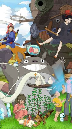 Come and hug this cute totoro! Studio Ghibli Art, Studio Ghibli Movies, Hayao Miyazaki, Animes Wallpapers, Cute Wallpapers, Anime Totoro, Studio Ghibli Background, Japon Illustration, Anime Films