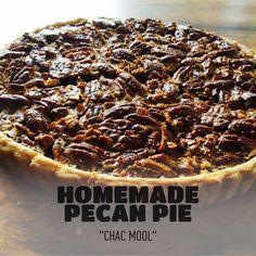 Homemade pecan pie, Pie de Nuez hecho en Casa, ChacMool restaurante en Chacala en la Riviera Nayarit