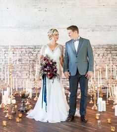 While we realize it's spring, and everyone's ready for bright colors + floral patterns, we're also well aware that many of you are in the middle of planning a fall or winter wedding, so we promise not to cut you off from some great inspiration that we know you can use! For this editorial, sent […]