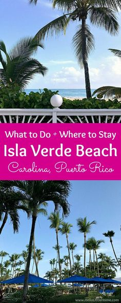 Isla Verde Beach in Carolina, Puerto Rico! All the best things to do and places to stay on Isla Verde Beach, located right next to San Juan, Puerto Rico ... from walking on the soft sand to gazing at the beautiful palm trees to relaxing at the perfect hot