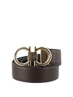 £450.0. SALVATORE FERRAGAMO Belt Leather Reversible Belt #salvatoreferragamo #belt #accessories Reversible Belt, Salvatore Ferragamo, Metal, Brown, Leather, Accessories, Metals, Chocolates, Brow