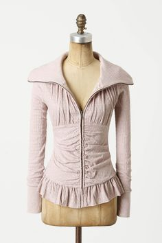 I wish this came in bright colors! Or even black or navy. What a cute zip-up to wear to the gym.