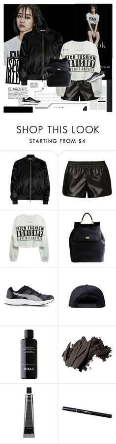"""Giving up is never an option."" by e-laysian ❤ liked on Polyvore featuring Givenchy, adidas Originals, Dolce&Gabbana, Puma, Black Scale, BRAD Biophotonic Skin Care, Bobbi Brown Cosmetics and David Jones"