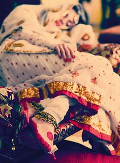 Dia Mirza as Pakeezahs Meena Kumari Anarkali, churidar, and chunni, Payal Pratap Singh. Maang tikka and payals, Amrapali. PHOTO: Tarun Vishwa / Harper's Bazaar