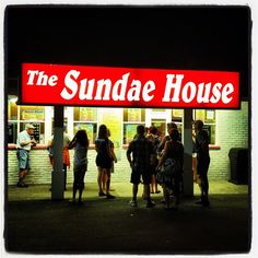 The Sundae House in Milford Ct on a hot summer night.
