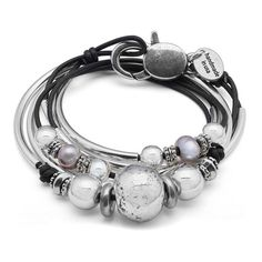 Lonny Artisan Crafted Silverplate Leather Wrap Bracelet – Lizzy James