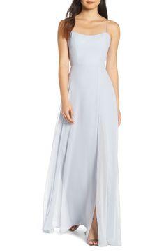 2e8dfa9a504 Jenny Yoo Kiara Bow Back Chiffon Evening Dress