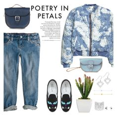"""""""poetry in petals"""" by thepommier ❤ liked on Polyvore featuring H&M, Brit-Stitch and Chiara Ferragni"""