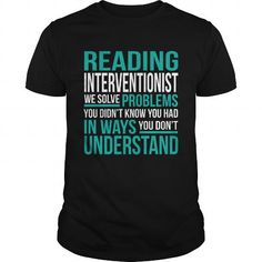 Awesome Tee READING-INTERVENTIONIST Shirts & Tees