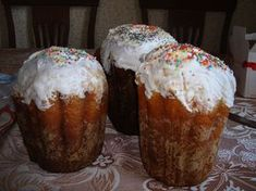 Kulich (кулич) is a tall, cylindrical sweet bread that is served for Easter in Russia, Ukraine and Belarus. It is traditionally paired with paskha, a sort of cheesecake.