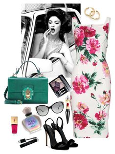 Flower Power by anya-nadtochiy on Polyvore featuring мода, Dolce&Gabbana, Giuseppe Zanotti, David Yurman, Versace, Christian Louboutin, Christian Dior and Yves Saint Laurent