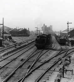 Train at Royal Victoria Dock: 1949 by PLA Staff Photographer. Museum quality art prints with a selection of frame and size options, and canvases. Museum of London London Docklands, Beautiful London, London Museums, Victoria, Old London, Railroad Tracks, Past, England, West Ham