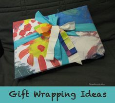 Handmade Gift Wrapping Ideas - reusable gift bags, drawstring bags, pillowcases, handmade wrapping paper and bows ~ Threading My Way