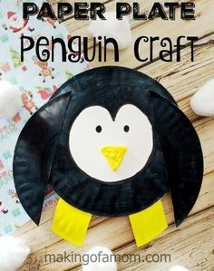Penguin Paper Plate Craft is a fun winter themed craft for kids. Easy enough for toddlers, perfect entertainment for kids of all ages.