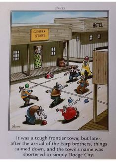 Gary Larson, Old West, Basketball Court, Baseball Cards, History, Sports, Hs Sports, Historia, Sport