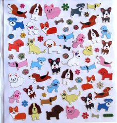 Dogs Puppy Boston Basset Poodle Corgi Chihuahua Silver Foil Lined HL Stickers #HobbyLobby