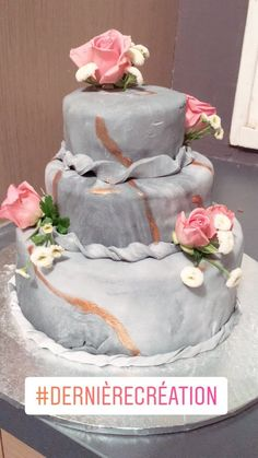 Weeding cake effet marbre
