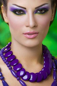 Dark Purple, green, yellow...