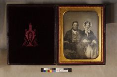 George Barr and Elizabeth Lawrence (grandfather and grandmother Barr) | Daguerreotypes collection, ca. 1845-1865 (PC005) -- Historic New England ca.1860