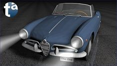 499 - TAEVision 3D Mechanical Design Automotive Fashion NY NYC CITY OF DREAMS 'THE ONE' SYMPHONY AlfaRomeo Giulia Spider GiuliaSpider 1963 (Camera B)