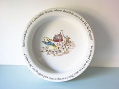 Your place to buy and sell all things handmade Rabbit Book, Dinner Bowls, Christening Gifts, Peter Rabbit, Beatrix Potter, Wedgwood, Magpie, Little People, Baby Shower Gifts