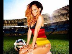 Rihanna, Germany's Sexiest World Cup Fan, Flashed Everyone Rihanna 2014, Photos Rihanna, Rihanna Fenty, Billboard Hot 100, Billboard Music Awards, World Cup 2014, Fifa World Cup, Costa Rica, Rihanna Dress