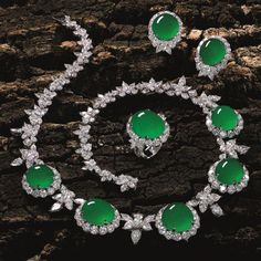 Imperial Jade and Diamond Parure