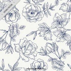 Patrón de rosas de primavera Vector Gratis