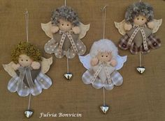 Best 12 Use your imagination with diagram and make an ornament; make tinfoil wings or lace – SkillOfKing. Christmas Angel Ornaments, Felt Christmas Decorations, Felt Ornaments, Angel Crafts, Decor Crafts, Diy And Crafts, Christmas Crafts, Christmas Sewing, Rustic Christmas