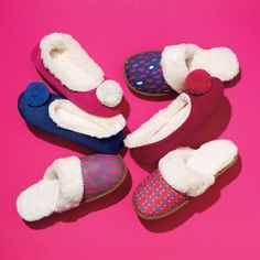 Comfort your sole this season with too-cute-for-words pom-pom slippers. Trim and sock lining in cozy, faux shearling with memory foam sock. Regularly $12.99. FREE shipping with any $40 online Avon purchase. Shop Avon @ www.youravon.com/ssuerth