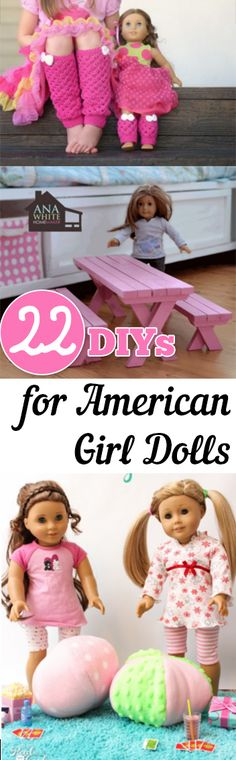 American Girl Dolls, American Girl Doll Projects, American Girl Doll Crafts, Craft Ideas for American Girl Dolls, Inexpensive American Girl Doll Outfits, American Girl Doll Sewing Projects, Popular Pin
