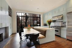 Part of a 20 foot wide, five story, 5200 square foot townhouse on New York's Park Avenue.