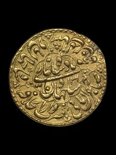 (Mughal empire) Gold coin of Mughal empire, India. Empire Moghol, Empire Ottoman, Celtic, Gold And Silver Coins, Mughal Empire, Antique Coins, Gold Bullion, World Coins, Rare Coins