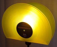 Stehlampen - Stehlampe Schallplatte, Lampe, Design Standleuc... - ein Designerstück von Aurum bei DaWanda